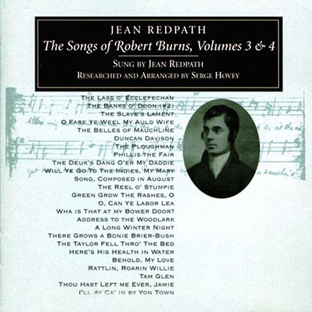 cover image for Jean Redpath - Songs Of Robert Burns vols 3 & 4