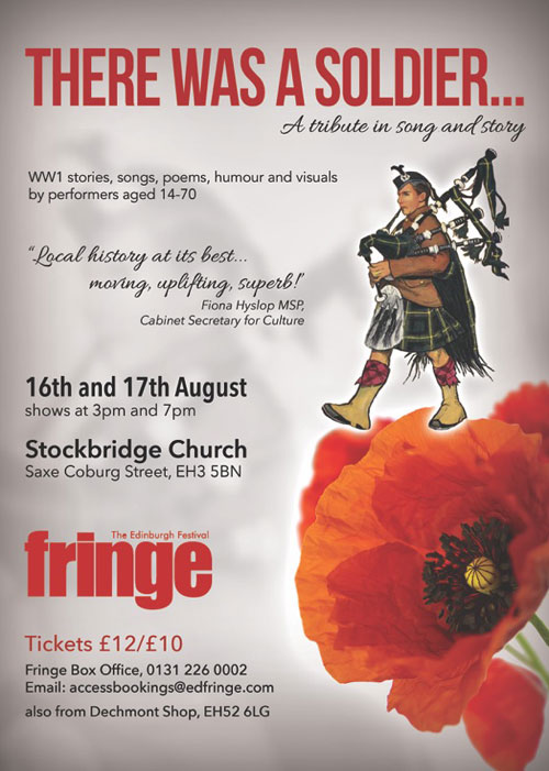 news article for There Was A Soldier at the Edinburgh Fringe